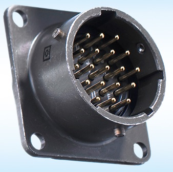 MIL square flange receptacles